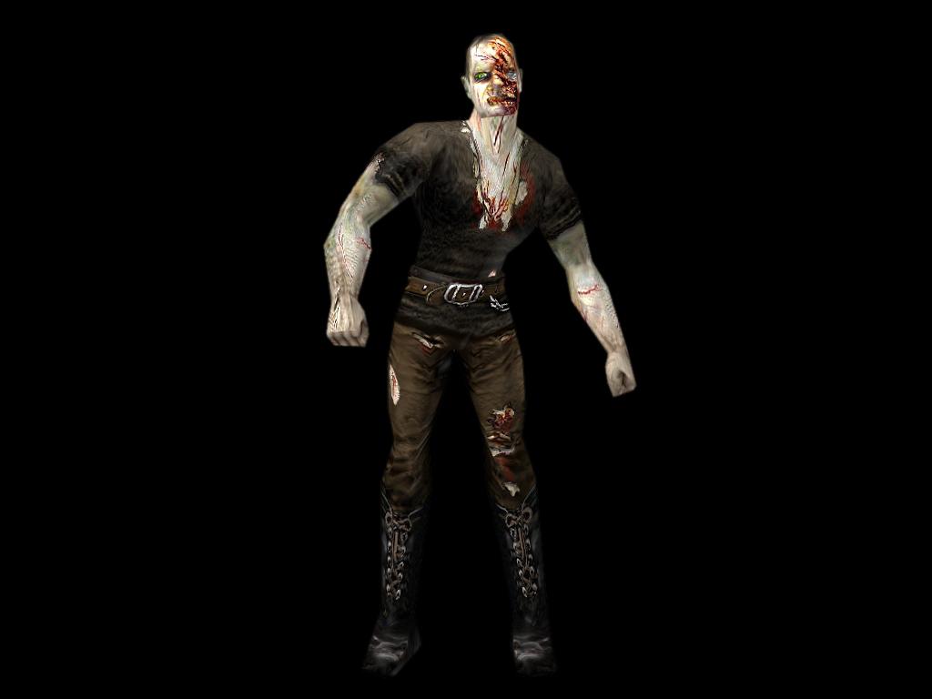 Zombie 1 black background