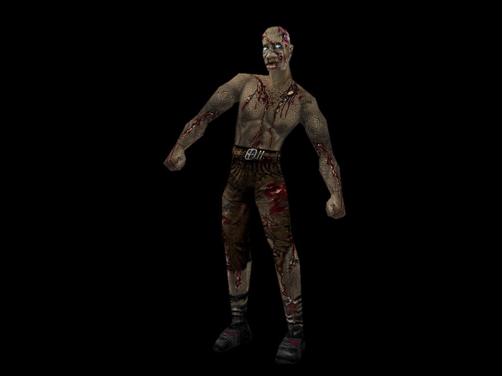 Zombie 2 black background