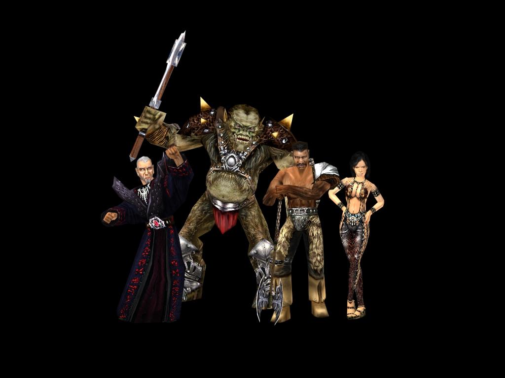 Xardas, Orc Warrior, Gorn, Velaya