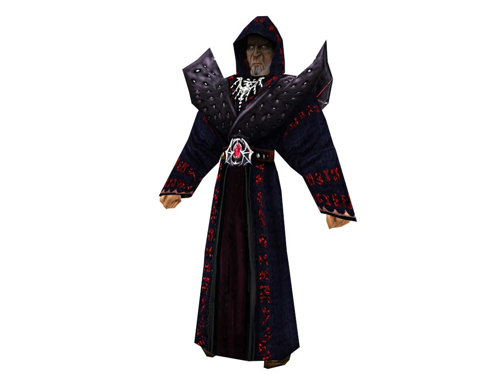Demon Mage hooded and unhooded