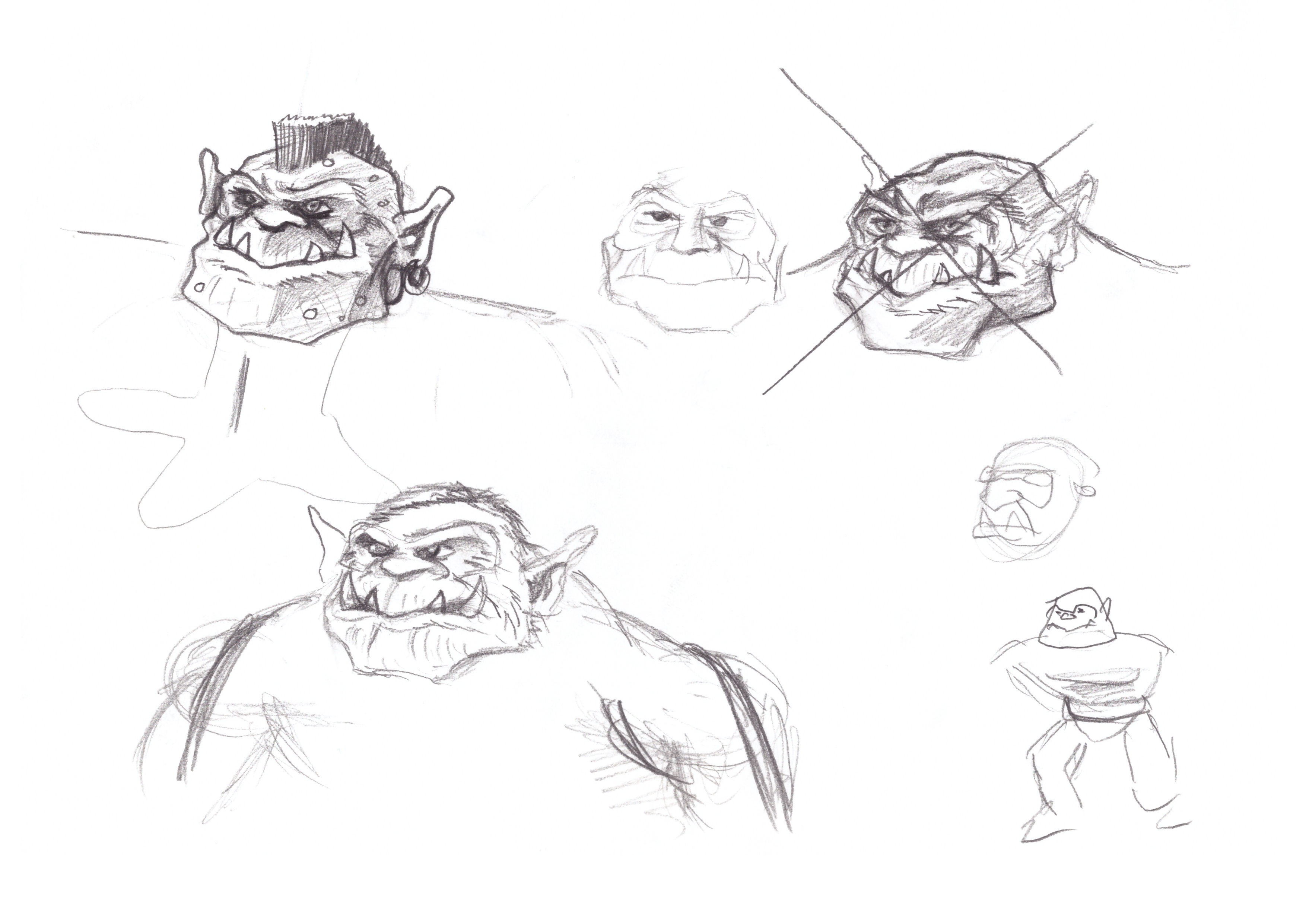 Orc Scribble 2 (Heads)