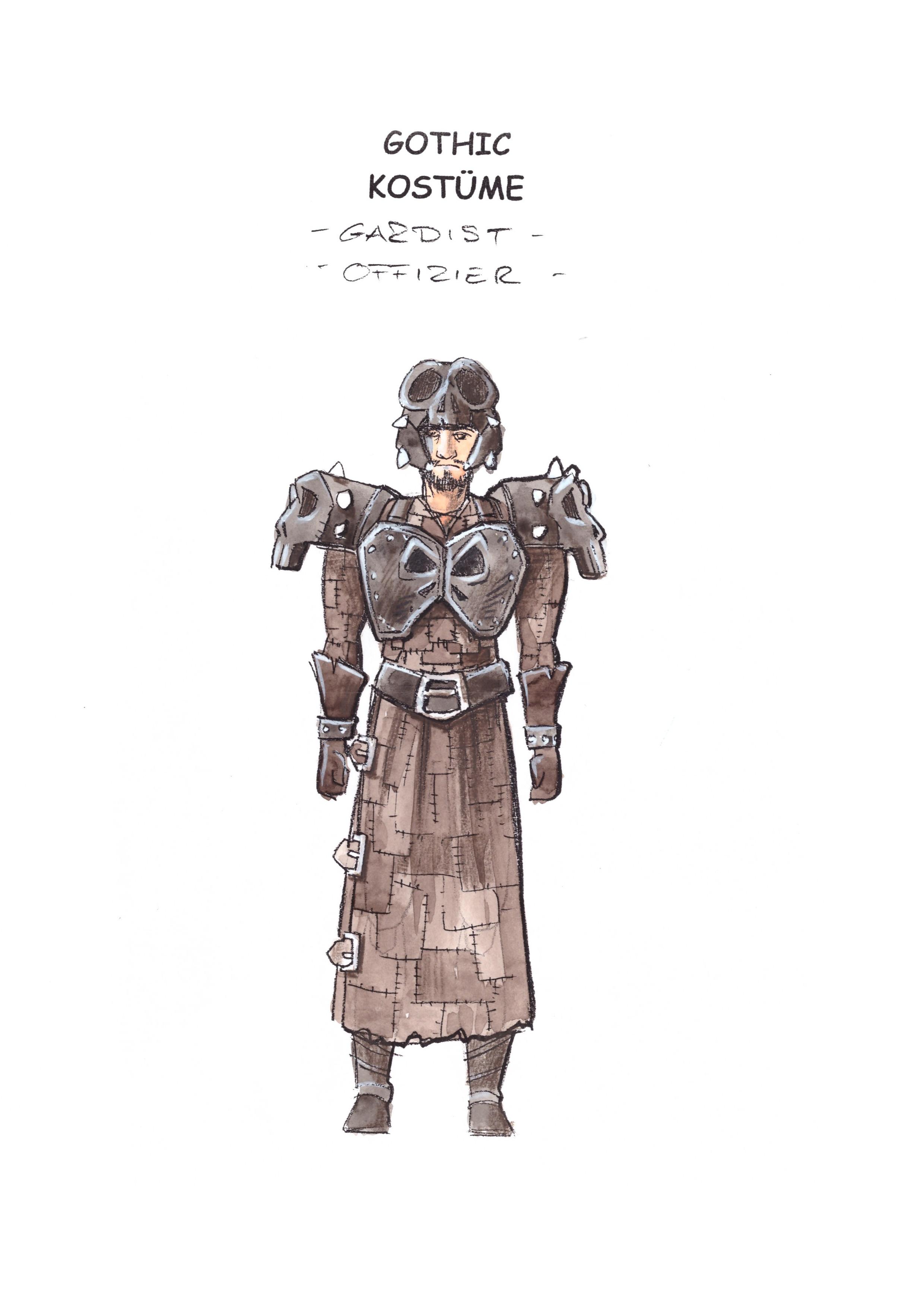 Gardist Offizier Farbe