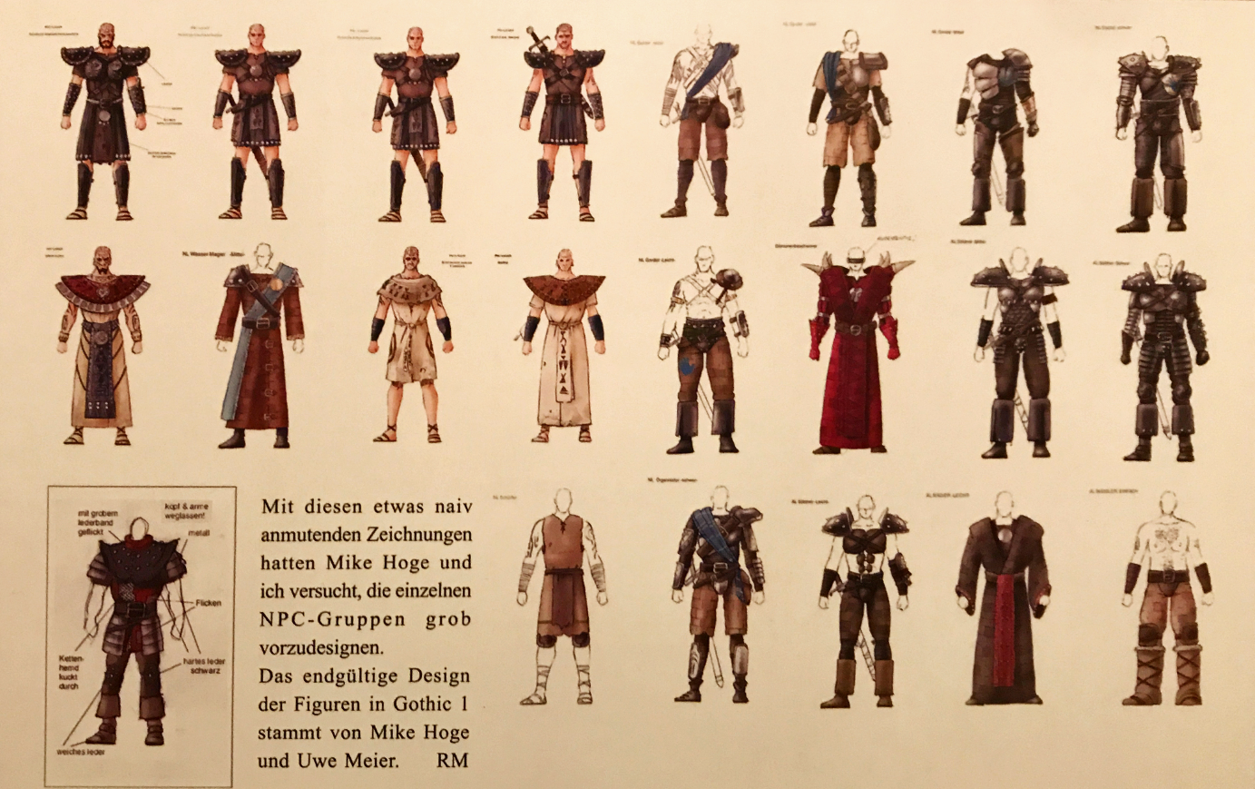 Costumes Overview - Later Design