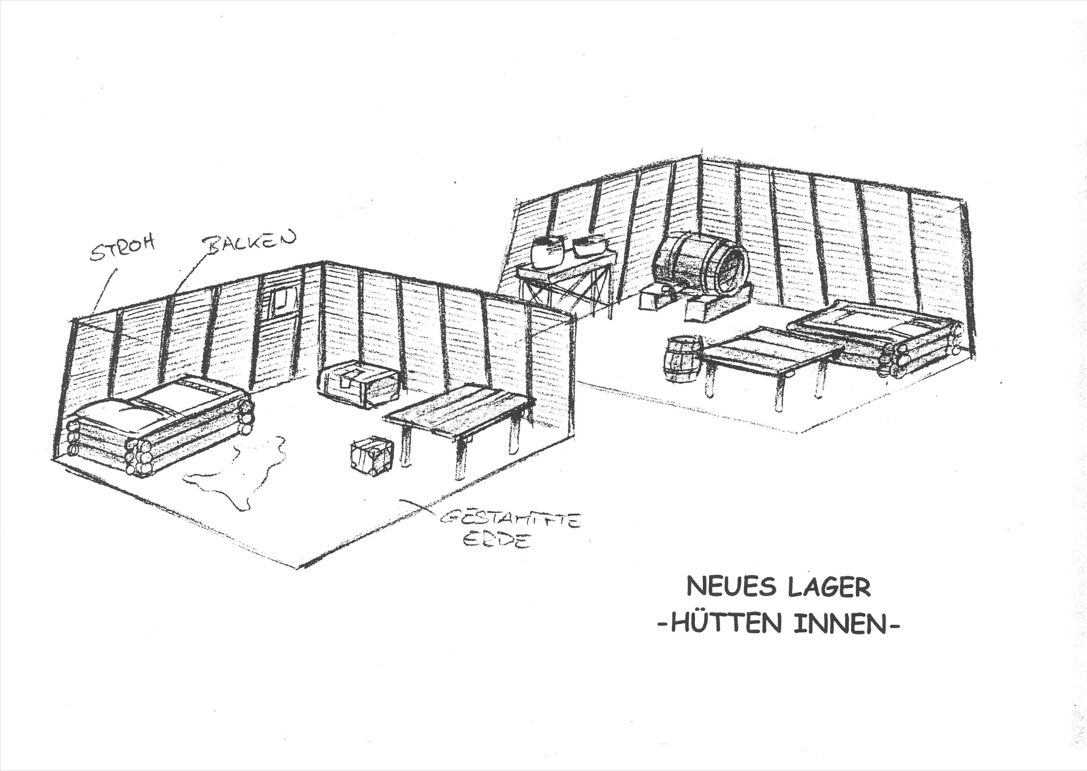 Neues Lager - Hütten Innen