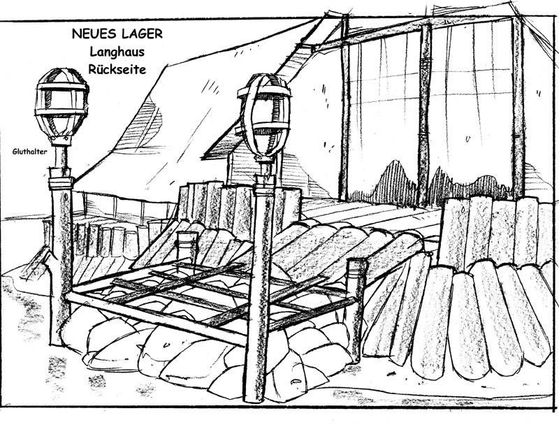 Neues Lager - Langhaus V1 - Rückseite