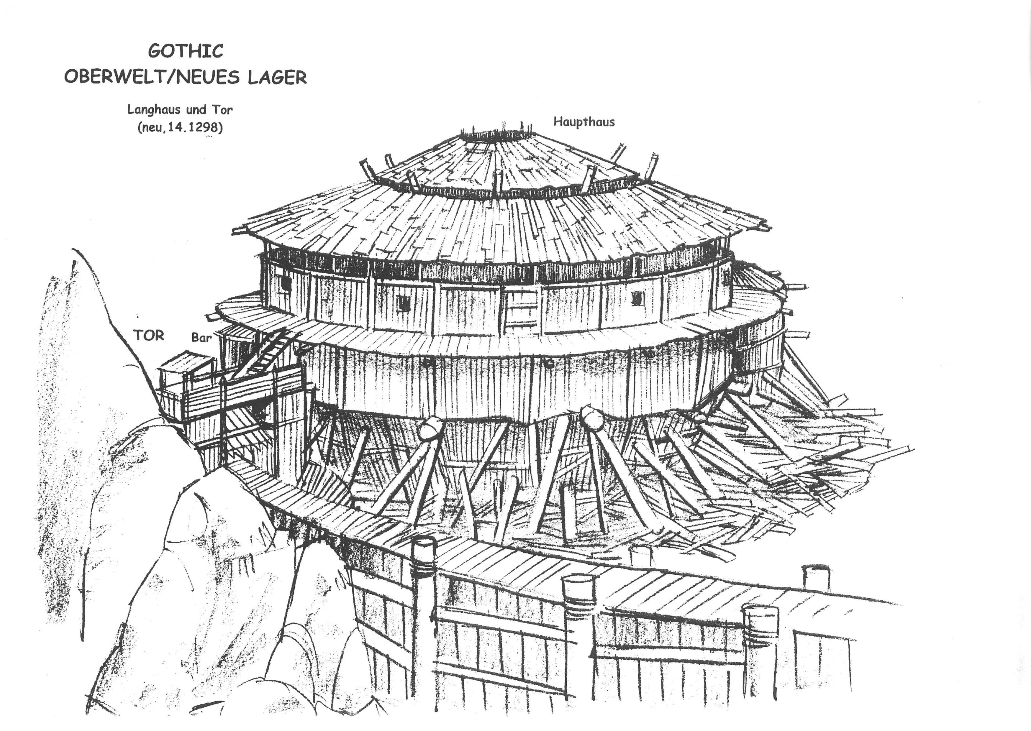 Neues Lager - Langhaus V2 und Tor