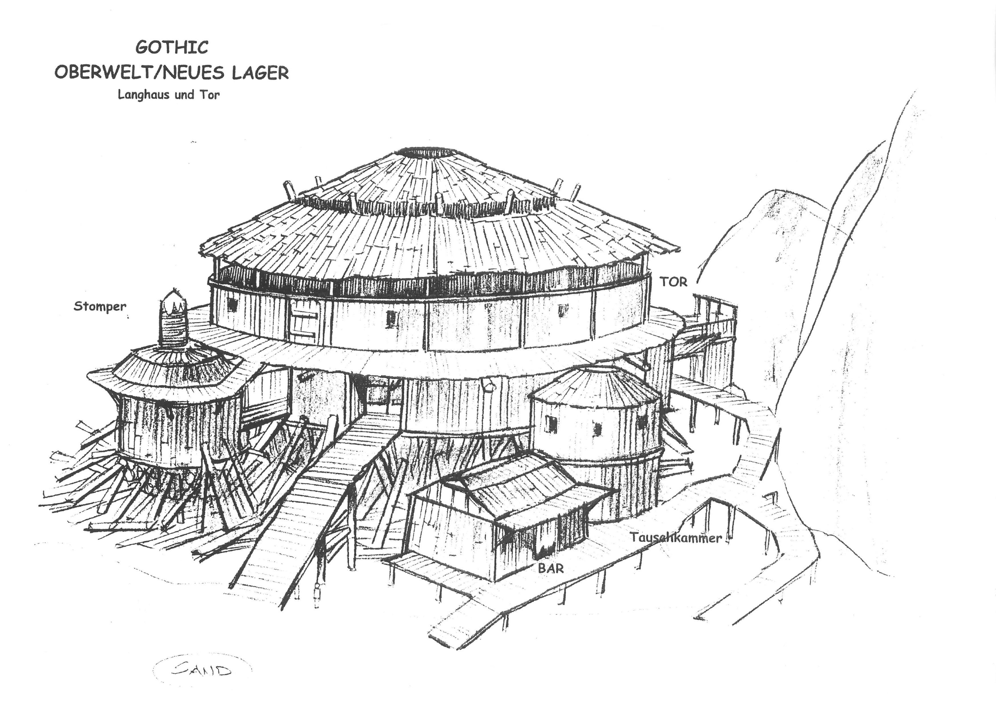 Neues Lager - Langhaus V2 und Tor - Rückseite