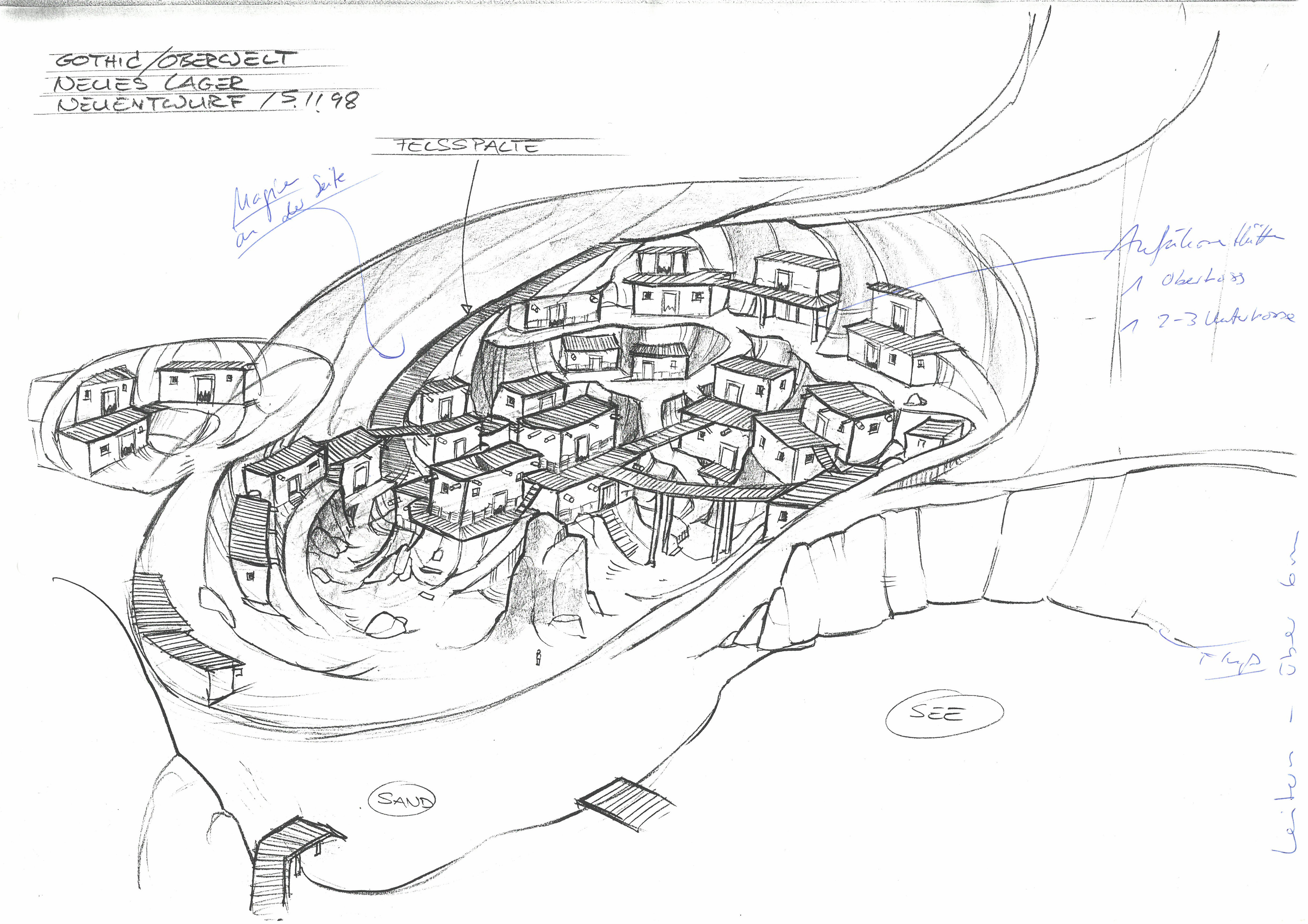 Neues Lager - Neuentwurf - Wohnhöhle Innen