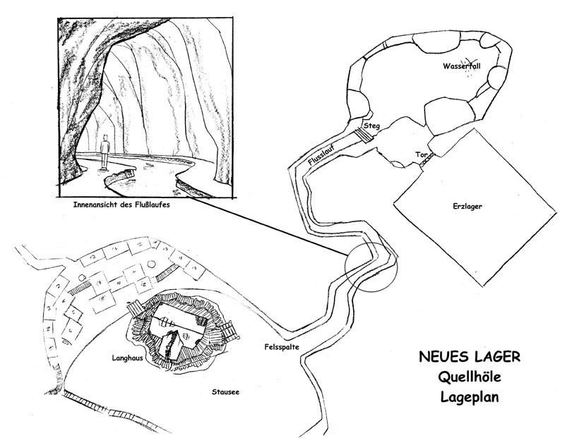 Neues Lager - Quellhöhle - Lageplan