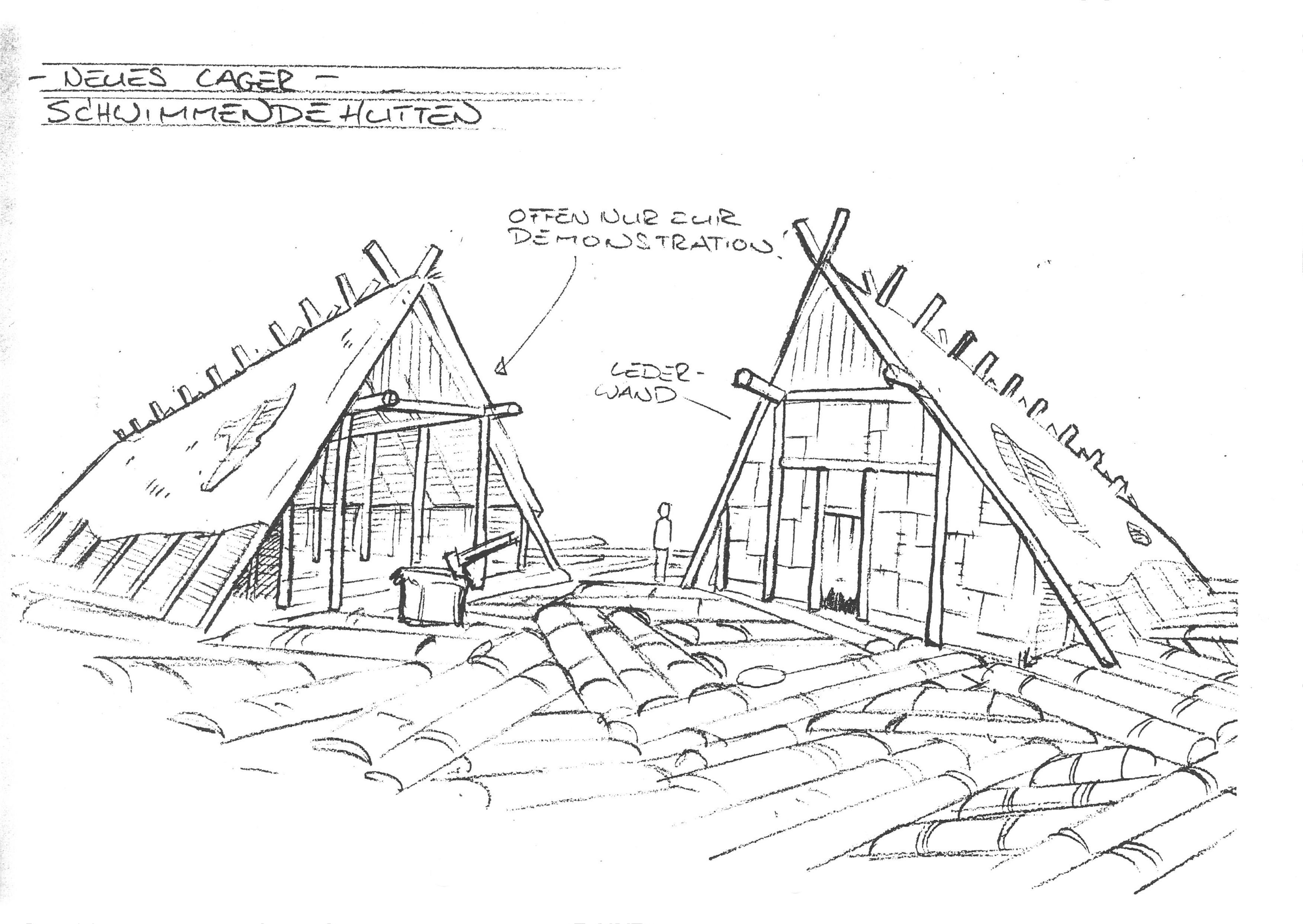 Neues Lager - Schwimmende Hütten