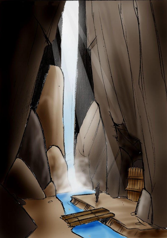 Neues Lager - Wasserfall und Erzlager