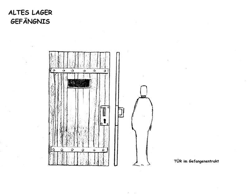 Tür im Gefangenentrakt