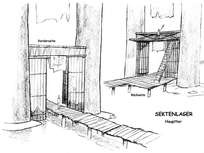Sektenlager Haupttor