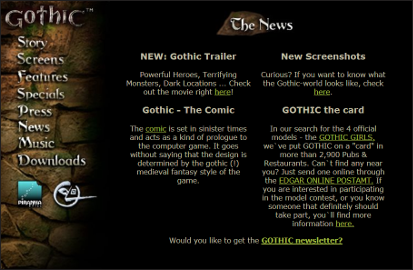 gothicthegame.com 1999 reconstructed