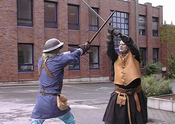 Schwertkämpfer für die MoCap Aufnahmen