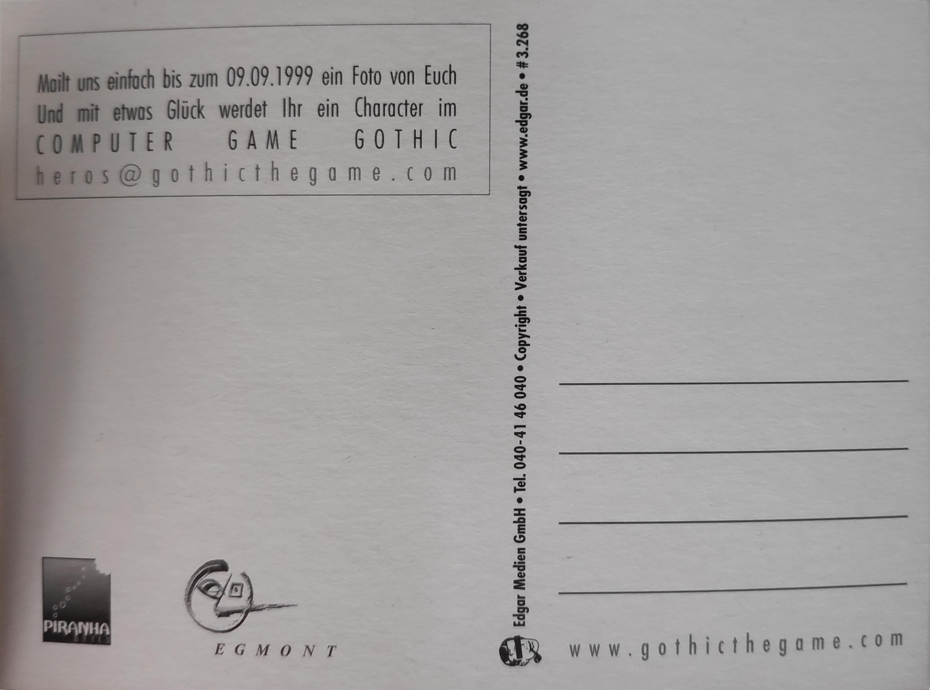 Edgar Karte Photo: 'Get Into the Game' Rückseite