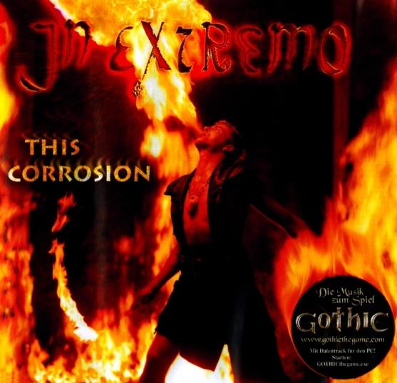 In Extremo Single mit Gothic Werbung