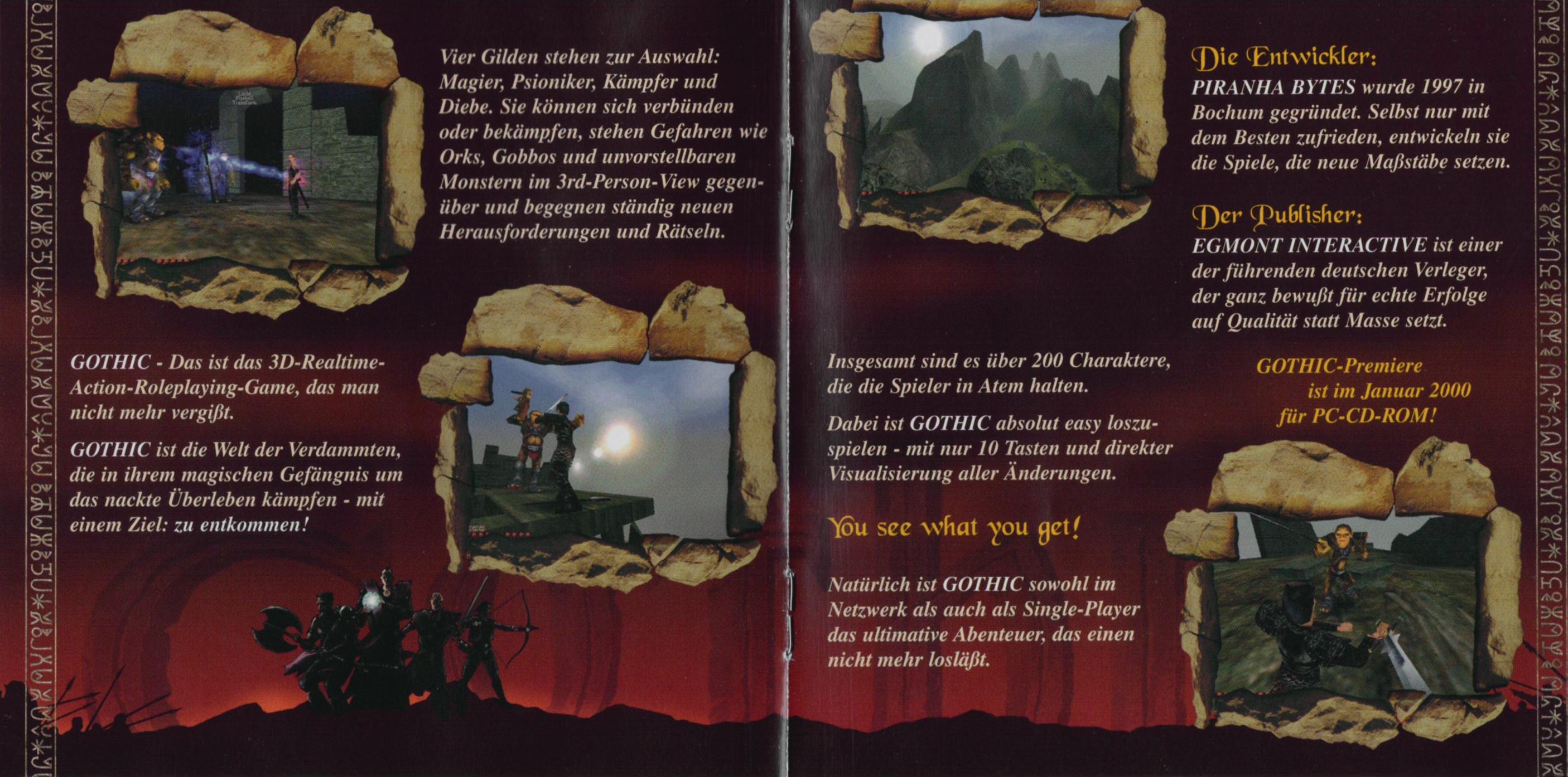 Verehrt und Angespien Gothic Werbung 2