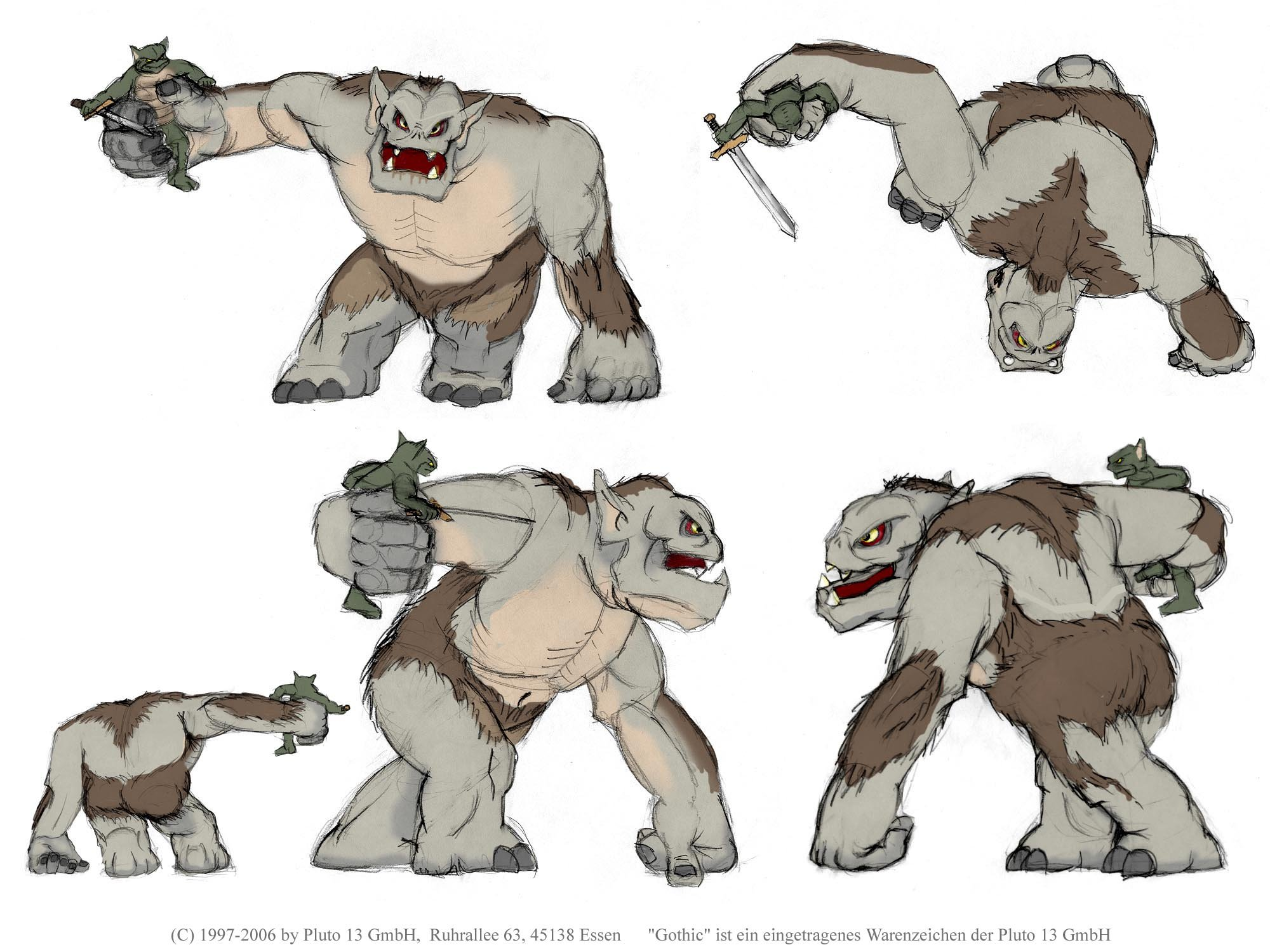 Troll Figure Concept Art