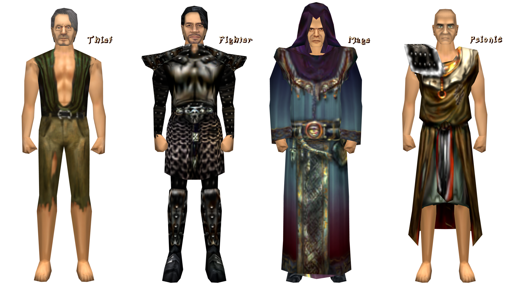 second version of the four classes from 0.64b