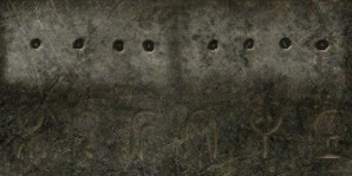 Runes saying 'Gefahr', german for 'Danger'
